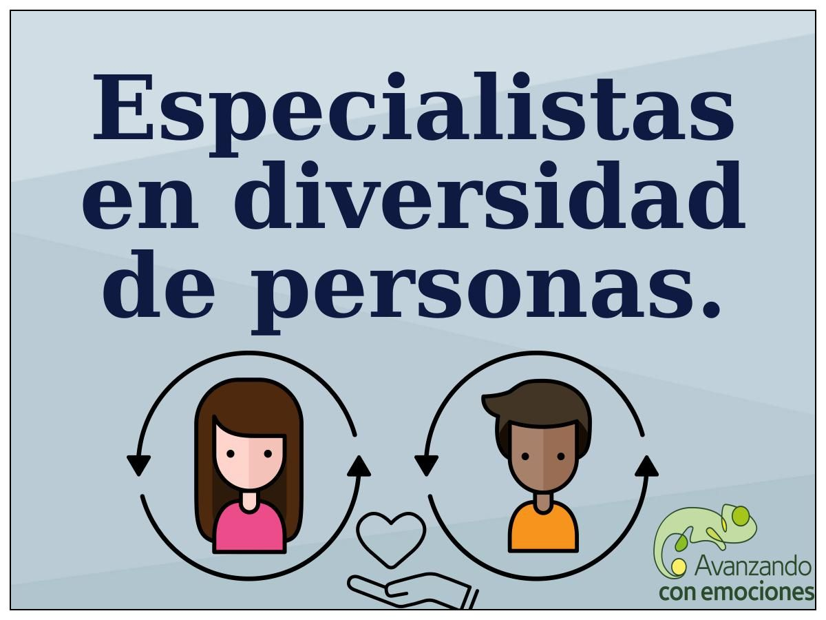 Especialistas en diversidad de personas.